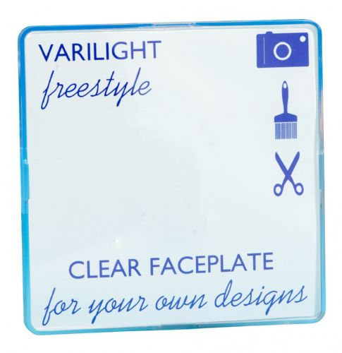Varilight XIFSBC Freestyle Clear 1 Gang Single Blank Plate